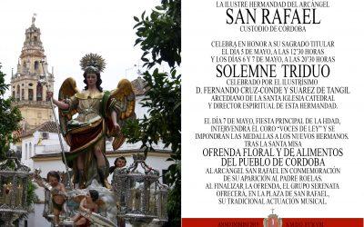 CULTOS EN HONOR Y GLORIA AL ARCÁNGEL SAN RAFAEL