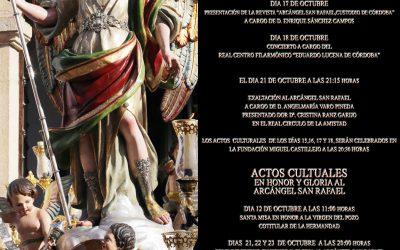 ACTOS CULTURALES Y CULTUALES AL ARCÁNGEL SAN RAFAEL