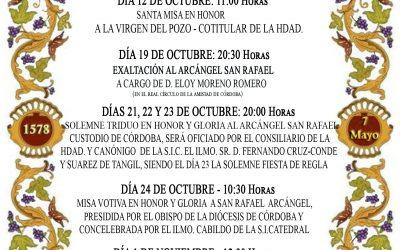 CULTOS AL ARCÁNGEL SAN RAFAEL OCTUBRE 2021
